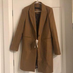 BRAND NEW Zara women's camel colored coat